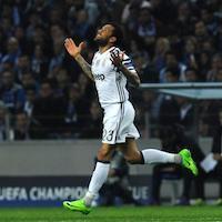 Juventus Dani Alves celebrates a goal